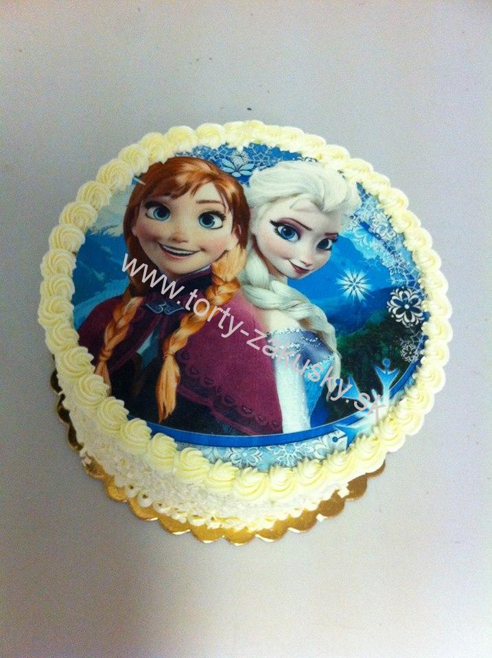 Detská torta ľadové kráľovstvo - jedlá oplátka