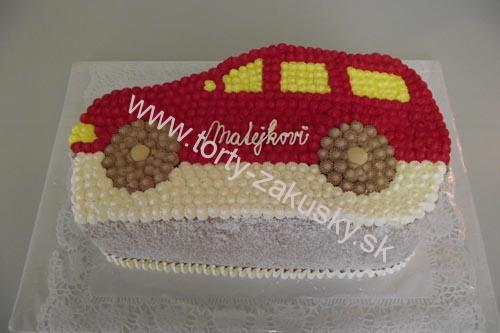 Detská torta červené osobné autíčko