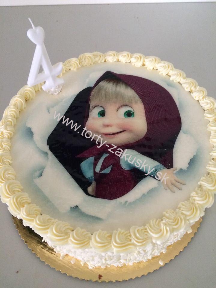 Detská torta Máša - jedlá oplátka