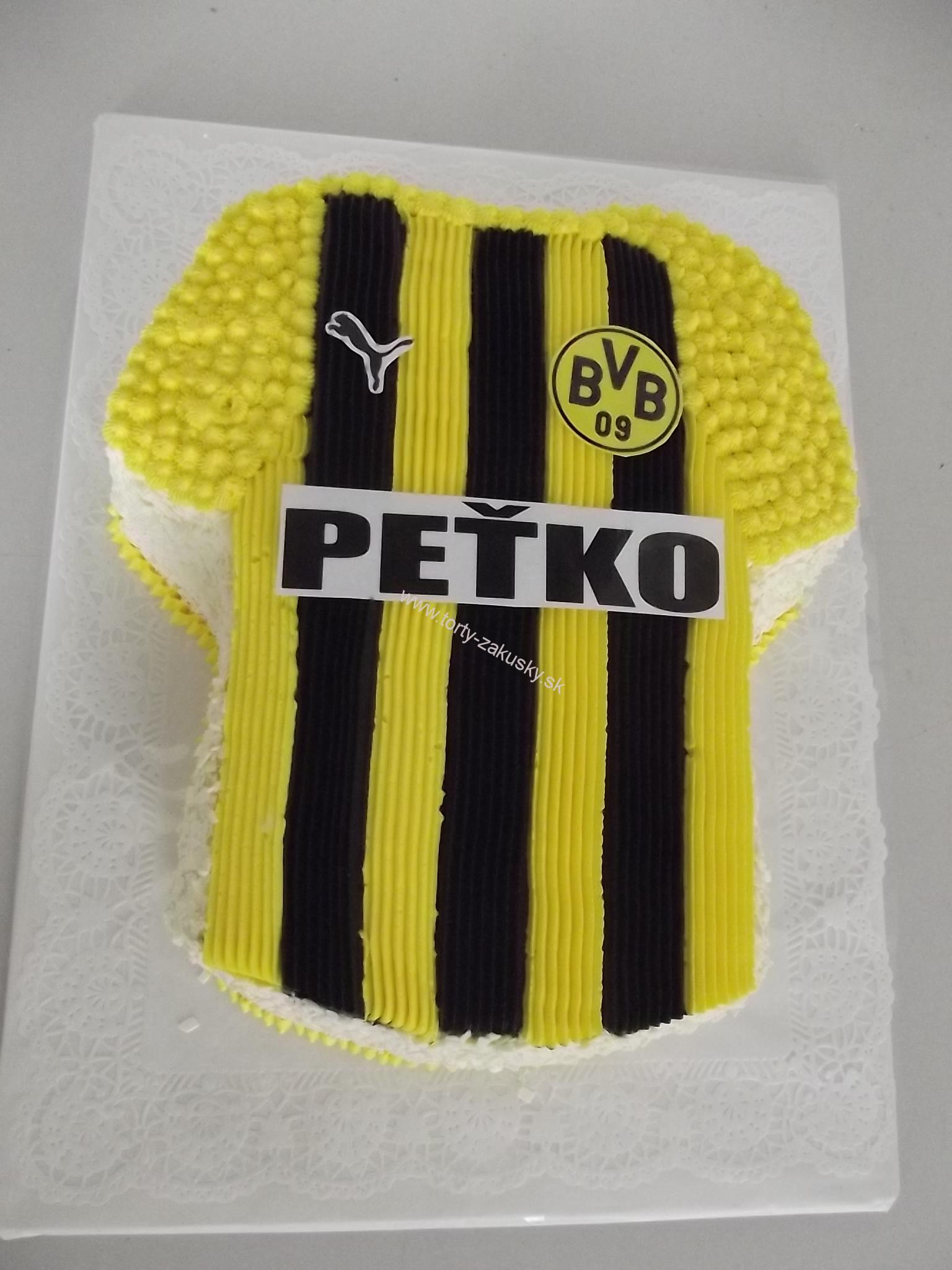 Detská torta futbalový dres DORTMUND