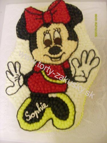 Detská torta Minnie Mouse - červená