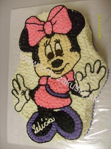 Detská torta Minnie Mouse - ružová