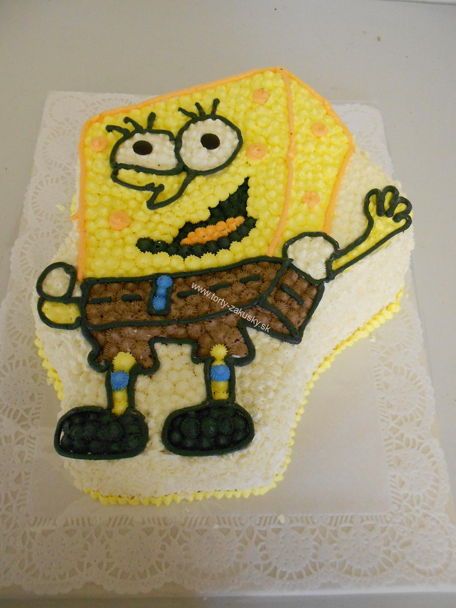 Detská torta Spongebob