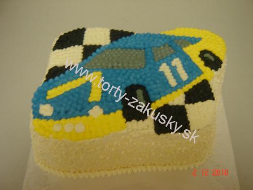 Detská torta pretekárske športové AUTO
