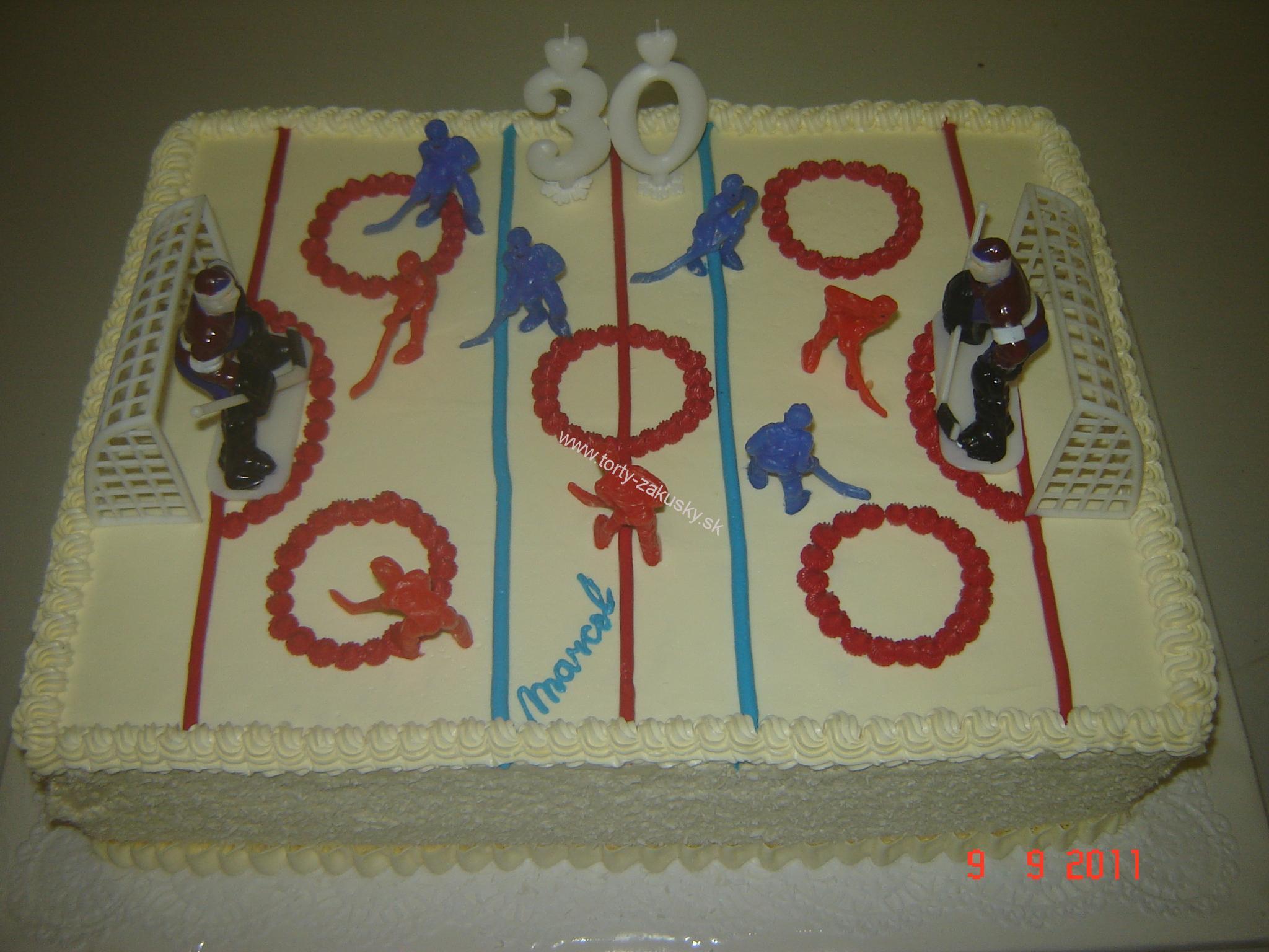 Detská torta hokejové ihrisko