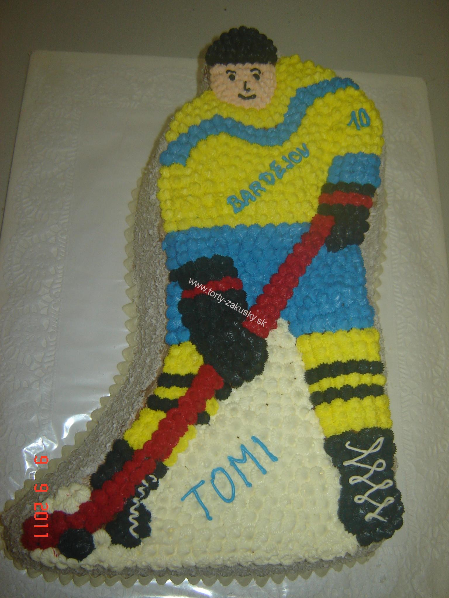 Detská torta HOKEJISTA