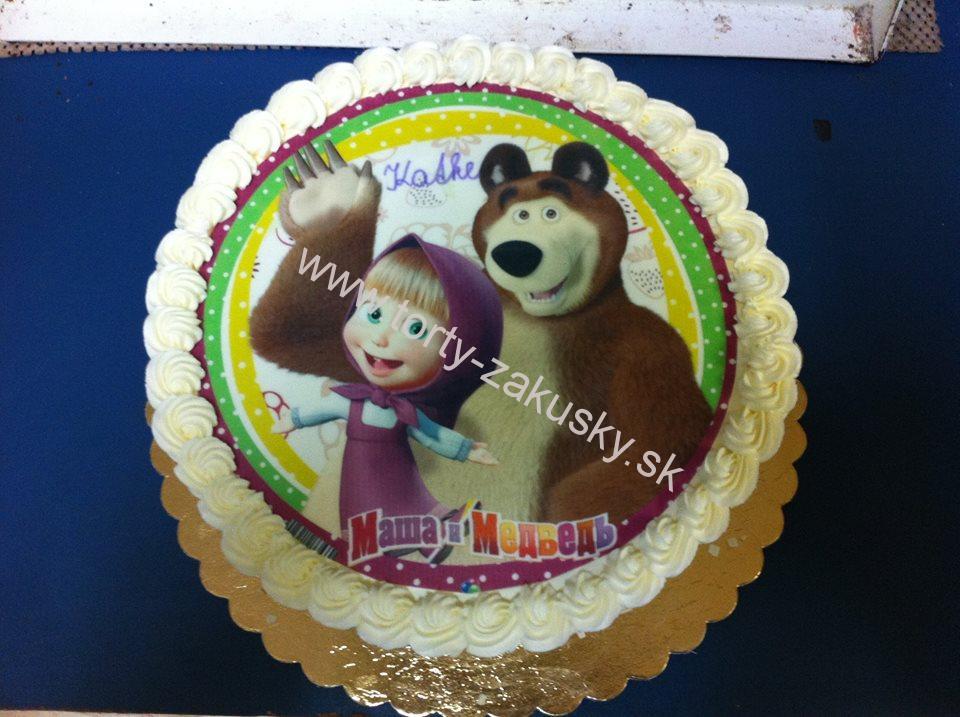 Detská torta MÁŠA A MEDVEĎ